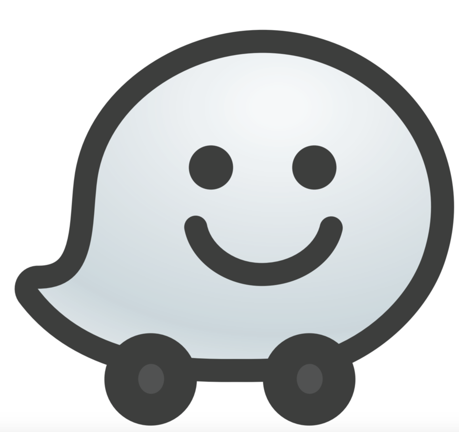 Image result for waze logo Maps traffic, Gps map
