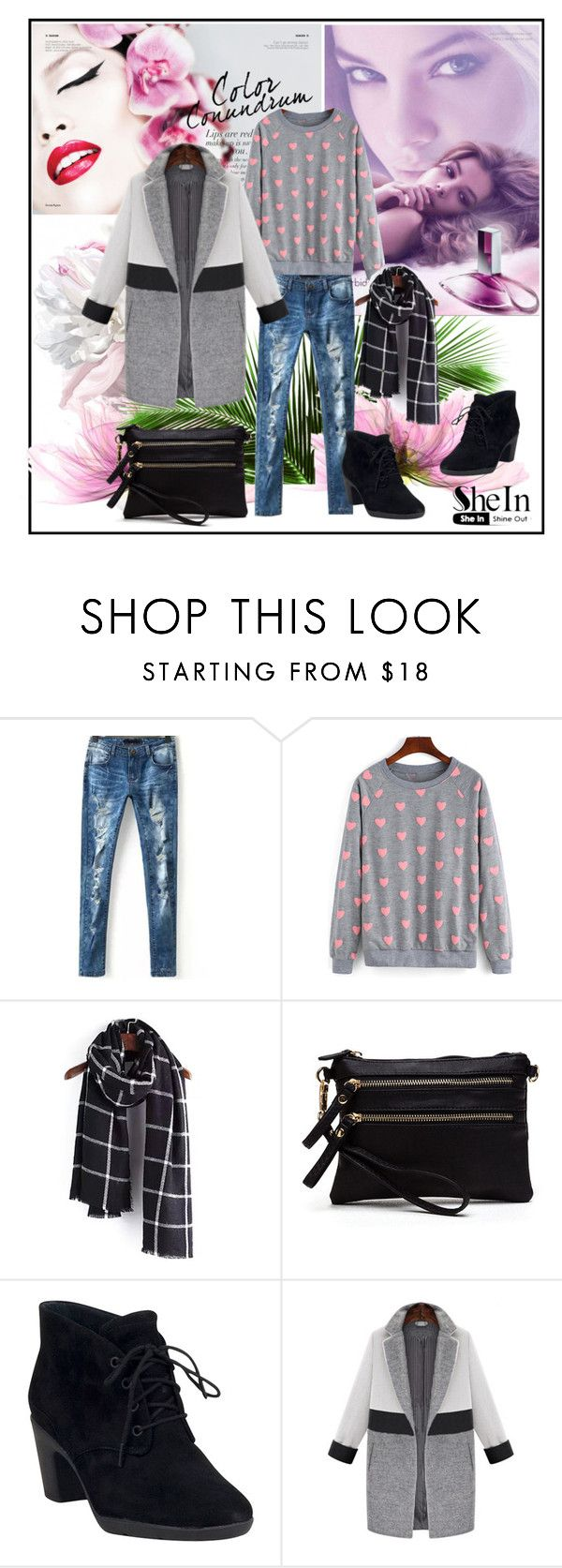 """""""Shein.com 9"""" by fashionb-784 ❤ liked on Polyvore featuring Clarks and shein"""