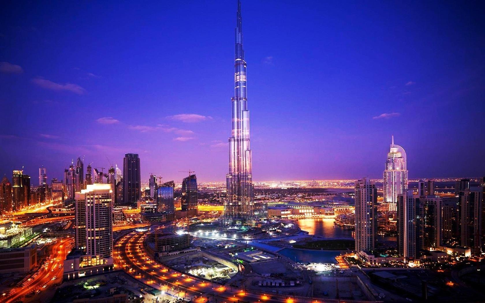Noche Ciudad De Dubai Fondos De Pantalla