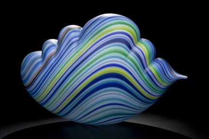 Jantzen Striped Cloud, 2013 Blown Glass