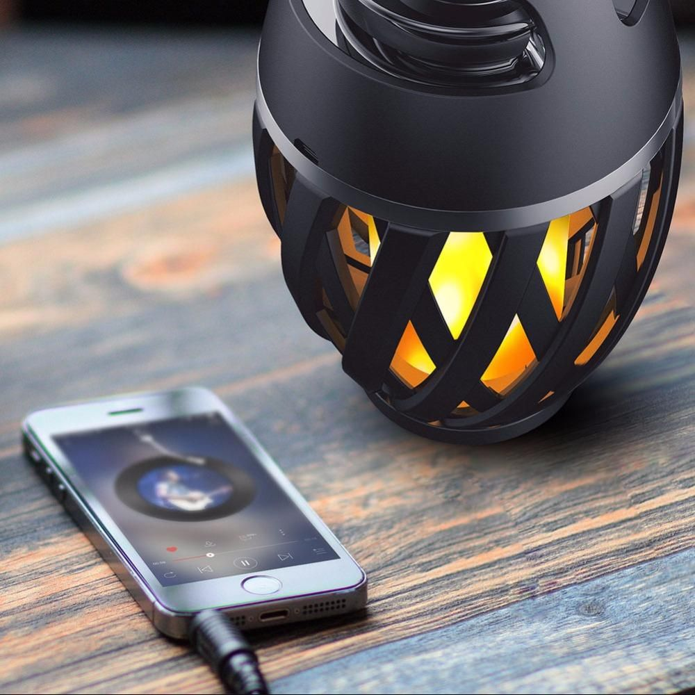 LED Flame Lamp with Bluetooth Speaker Bluetooth gadgets