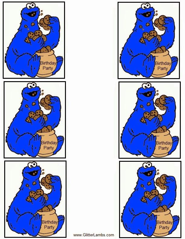 Glitter Lambs Cookie Monster Food Label Cards And Free Printable