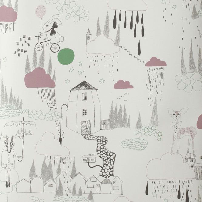 Nordic Blends Wannahaves From Scandinavia And Elsewhere Kids Wallpaper Ferm Living Wallpaper Rain Wallpapers