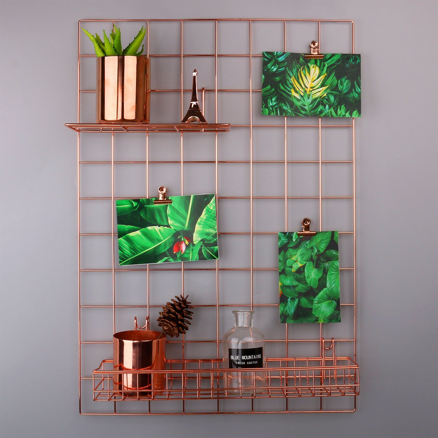 Grid Panel Photo Wall Rumcent Wire Wall Mesh Display Panel ...