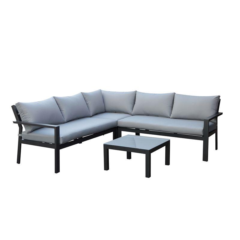 Opale Sofa Dining Garden Furniture Set Grey At Homebase Co Uk