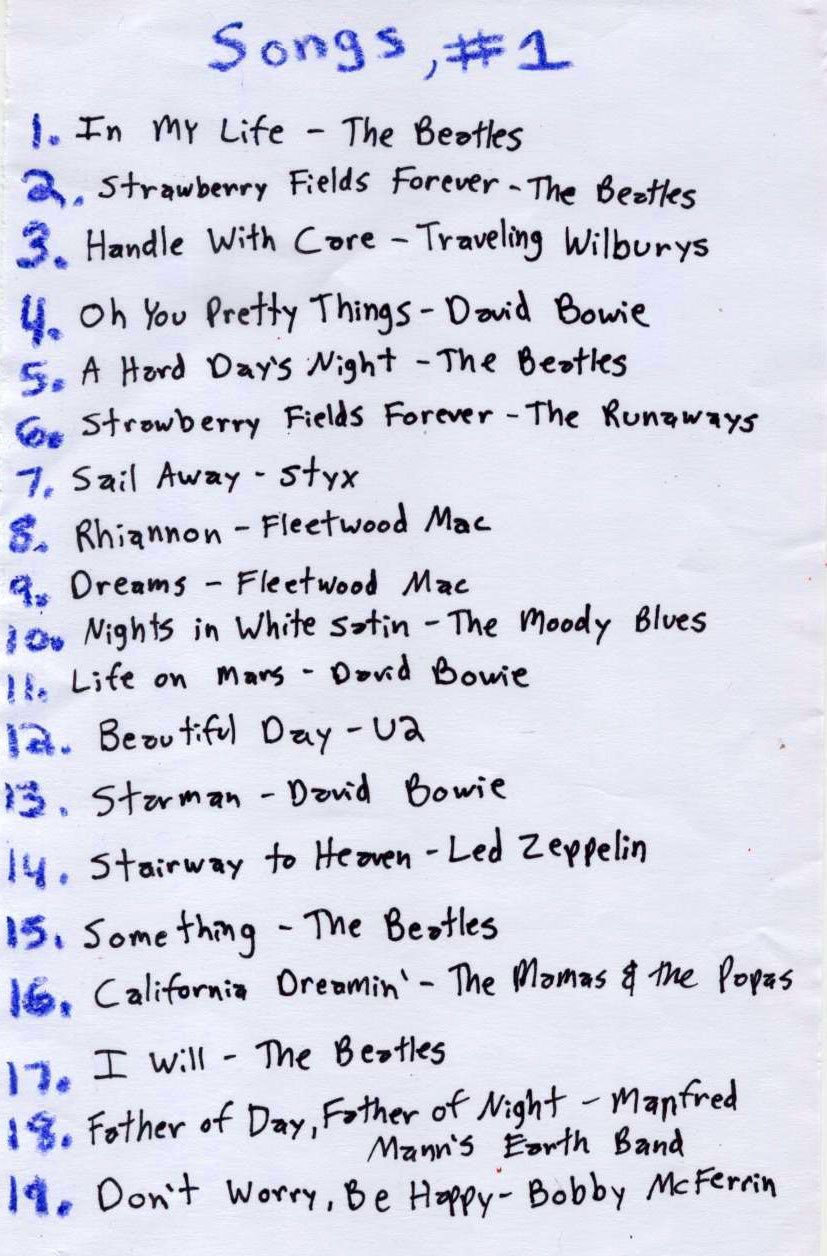 Playlist Songs 1 Song Playlist Throwback Songs Beatles Lyrics