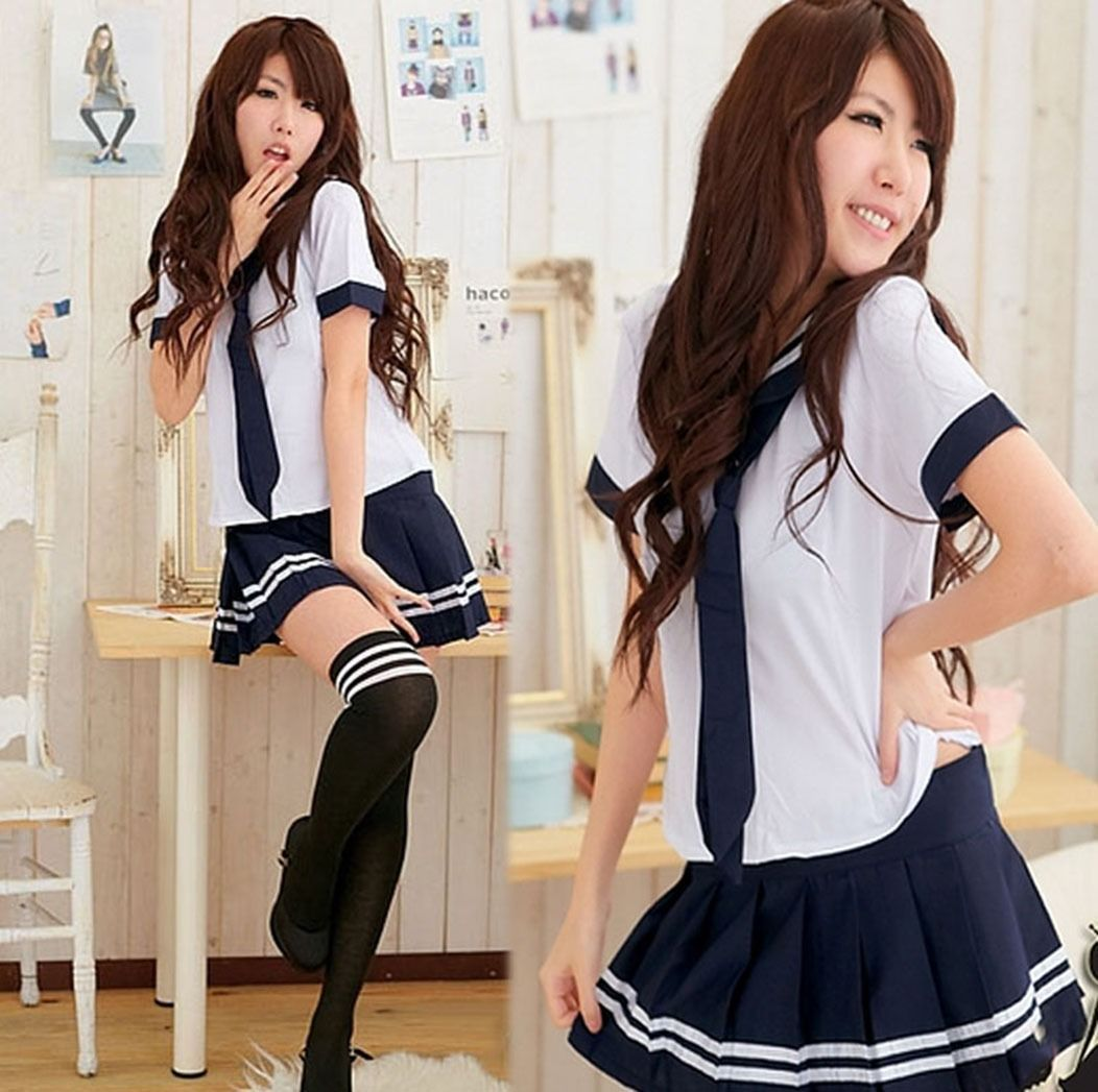 image Cute school girl sailor photography prime peo
