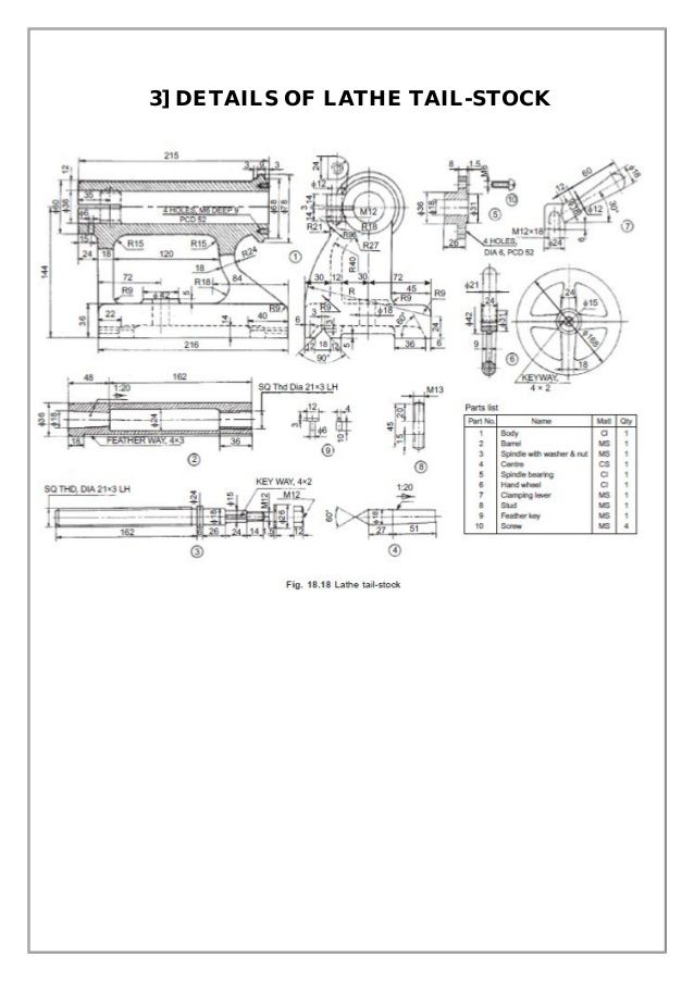 lathe machine drawing pdf - photo #16