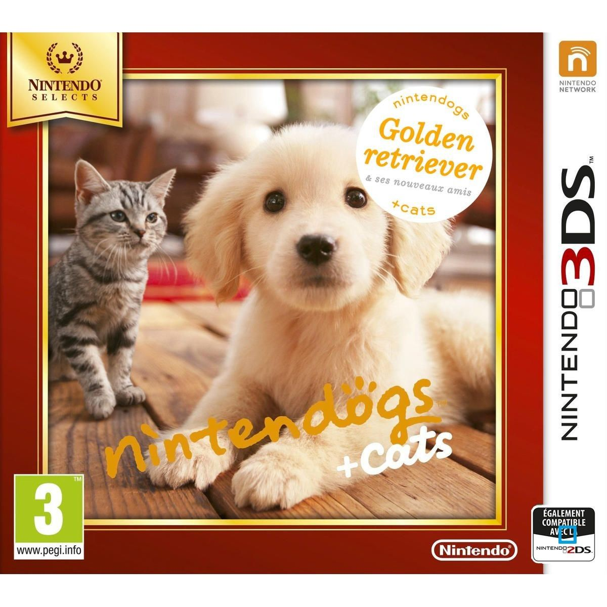 Nintendogs Cats Golden Retriever Nintendo Selects 3ds Taille
