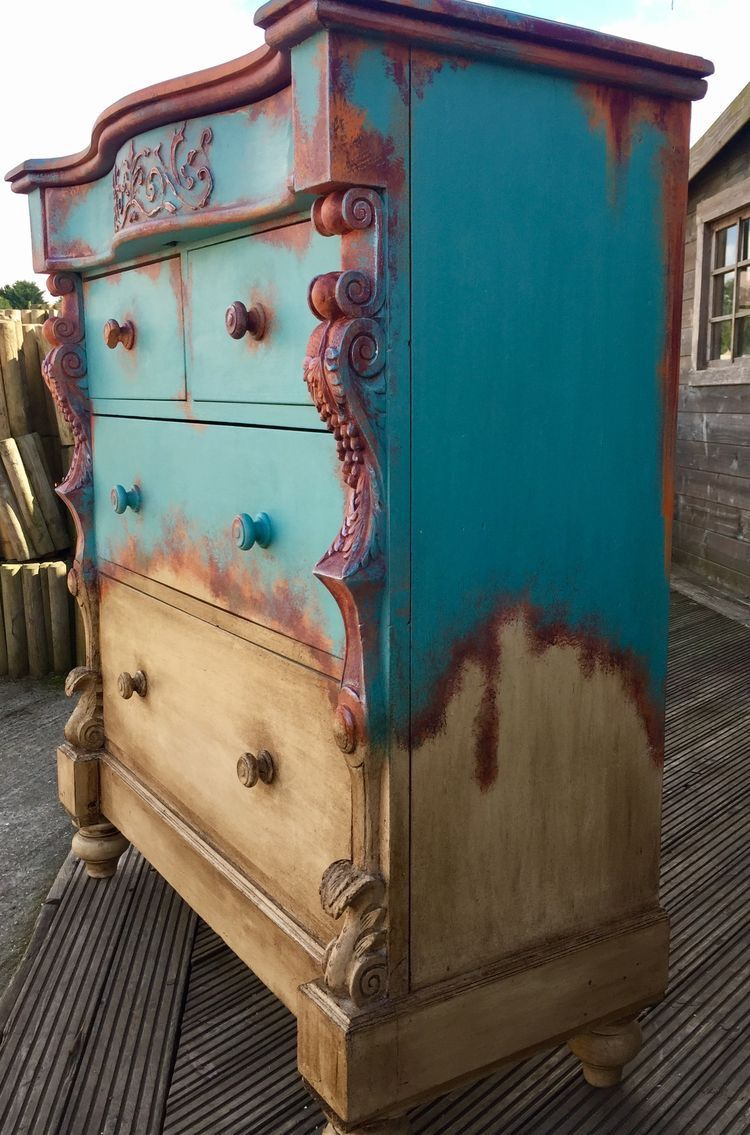 Diy furniture with chalk paint using annie sloan provence for Diy steampunk home decor