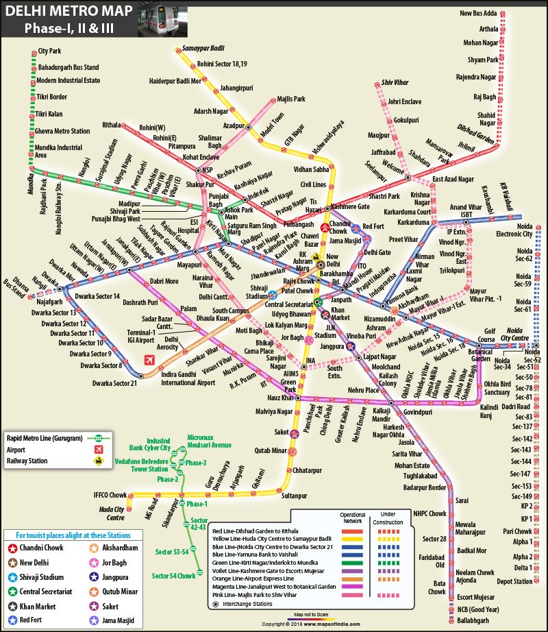 Proposed Delhi Metro Phase 3 Map Showing The Metro Connectivity
