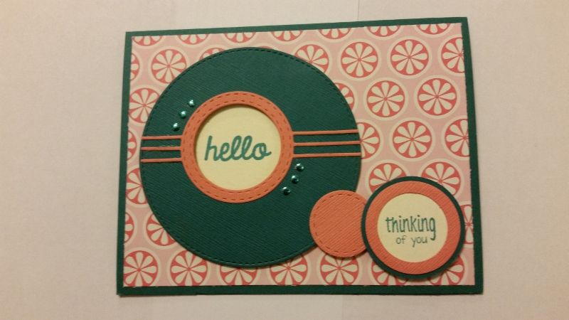 Die Club card using Memory Box Surely Stitched Circle.