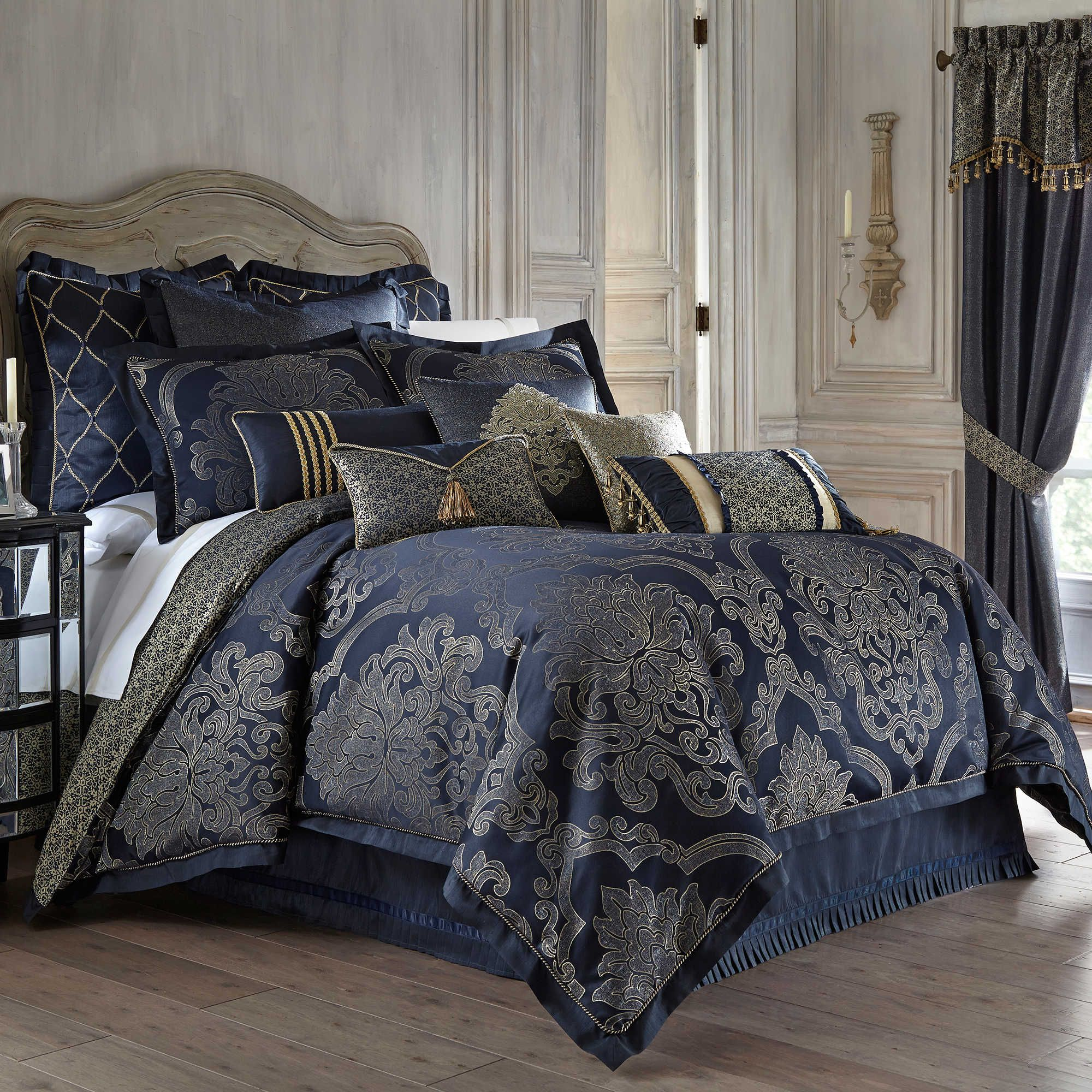 bedding comforter p waterford from by marquis gold isabella set