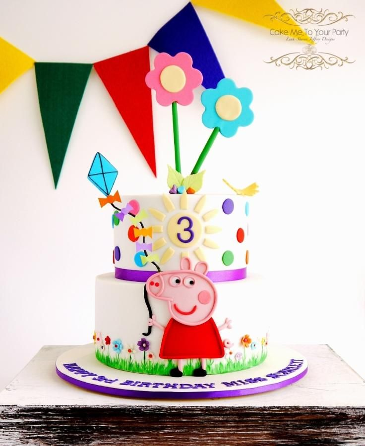 Peppa Pig Cake allergy friendly Cake by Leah Jeffery Cake