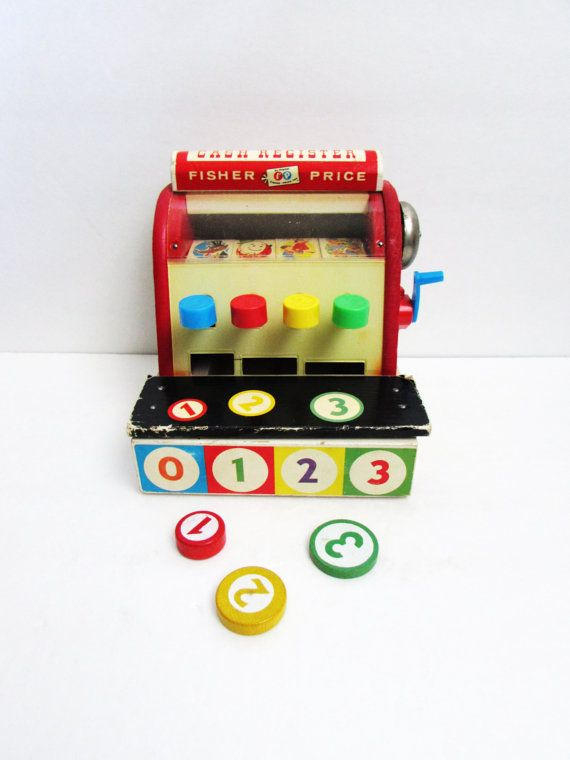 6d1f3ff54bd0 Fisher Price Cash Register With Coins  972 1970 s