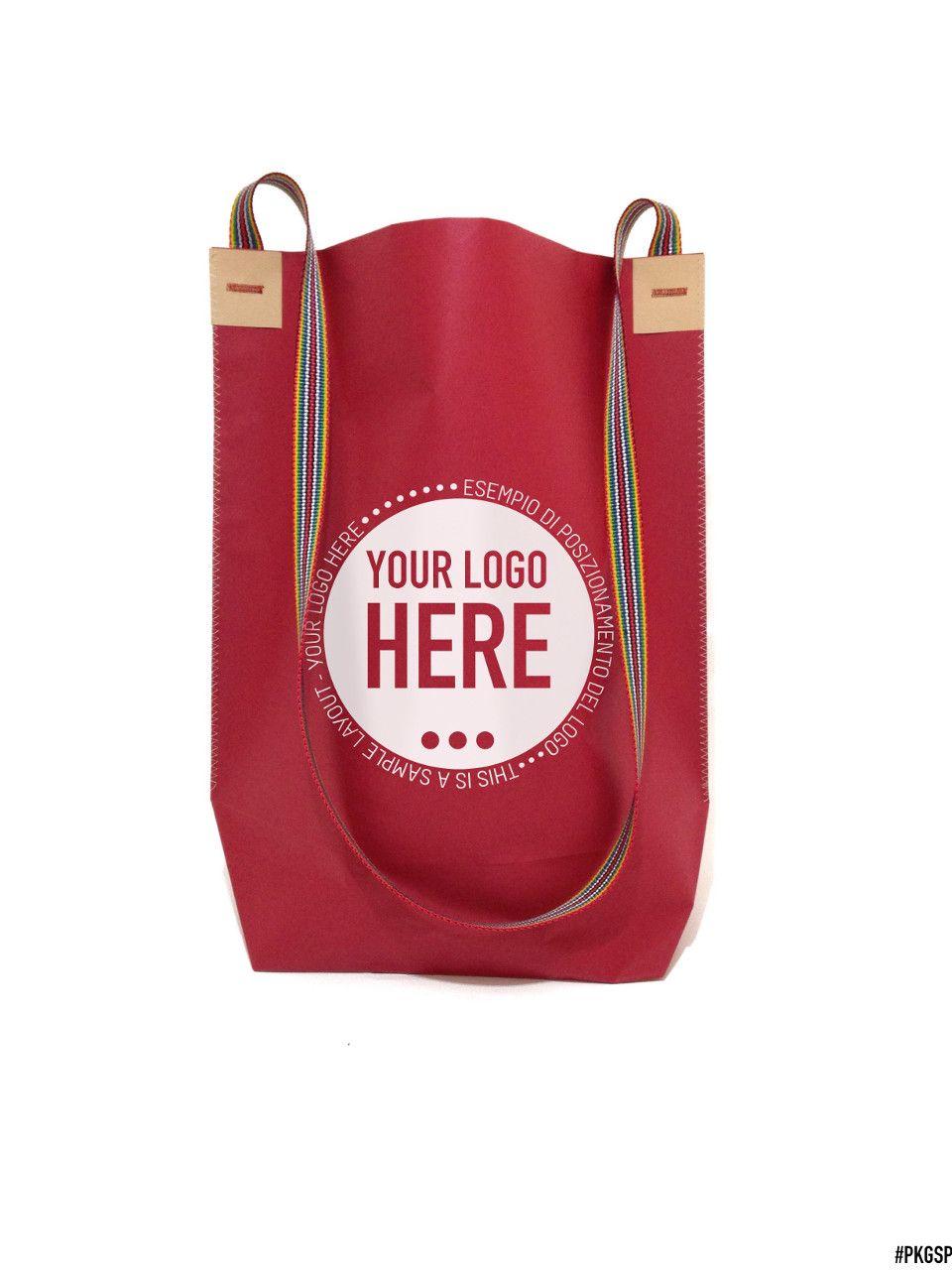 negozio online f9fec e7f44 Shopping bag a forma di sacca trapezoidale con tracolla ...