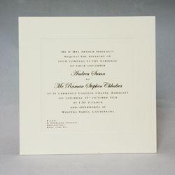 Charming Gee Brothers   Square Wedding Invitations
