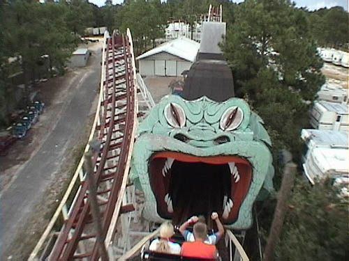Into The Serpent S Jaws On Starliner Roller Coaster At Miracle Strip Amut Park Panama City Beach Florida By Stevesobczuk Via Flickr