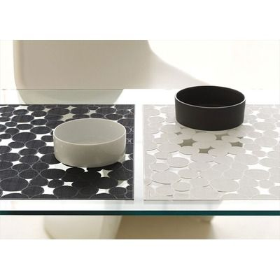 Chilewich Pressed Vinyl Rectangle Dots Placemat