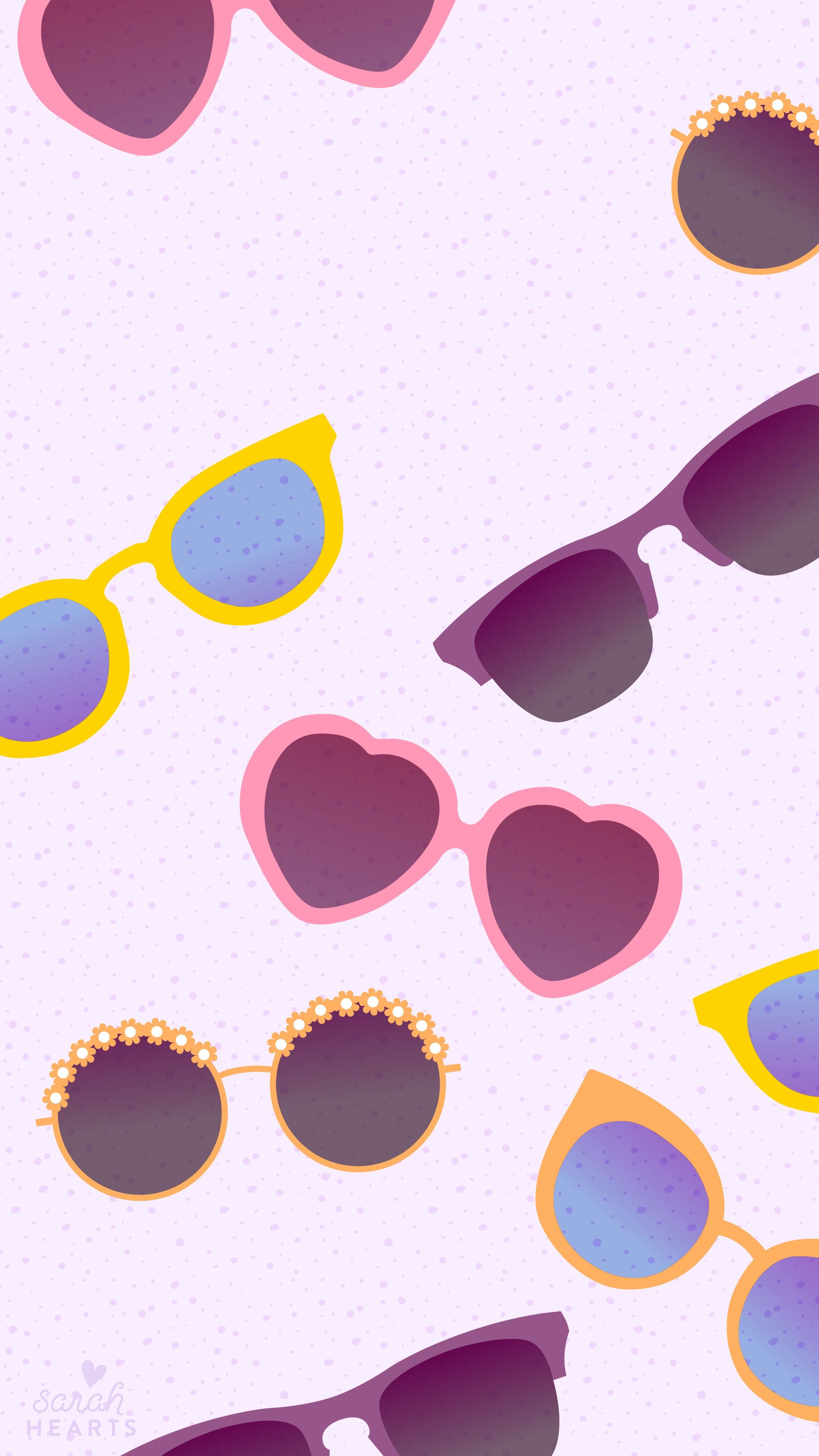 Free adorable sunglasses iPhone wallpaper by sarahhearts.com ... b90f33d46db