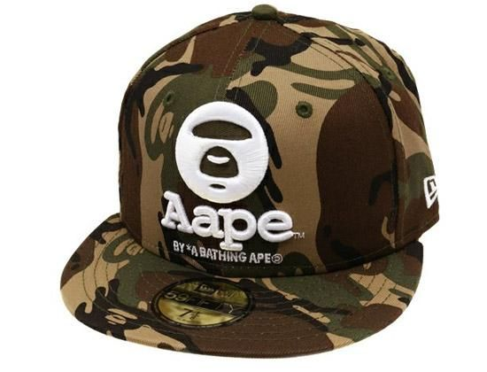 0ca94e80009 Camo Aape 59Fifty Fitted Cap by BAPE x NEW ERA