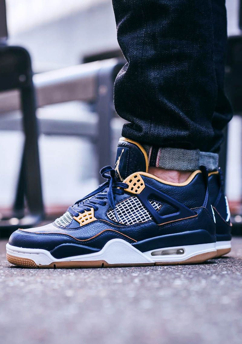 b121135d325362 Air Jordan 4 Retro Mid   Navy