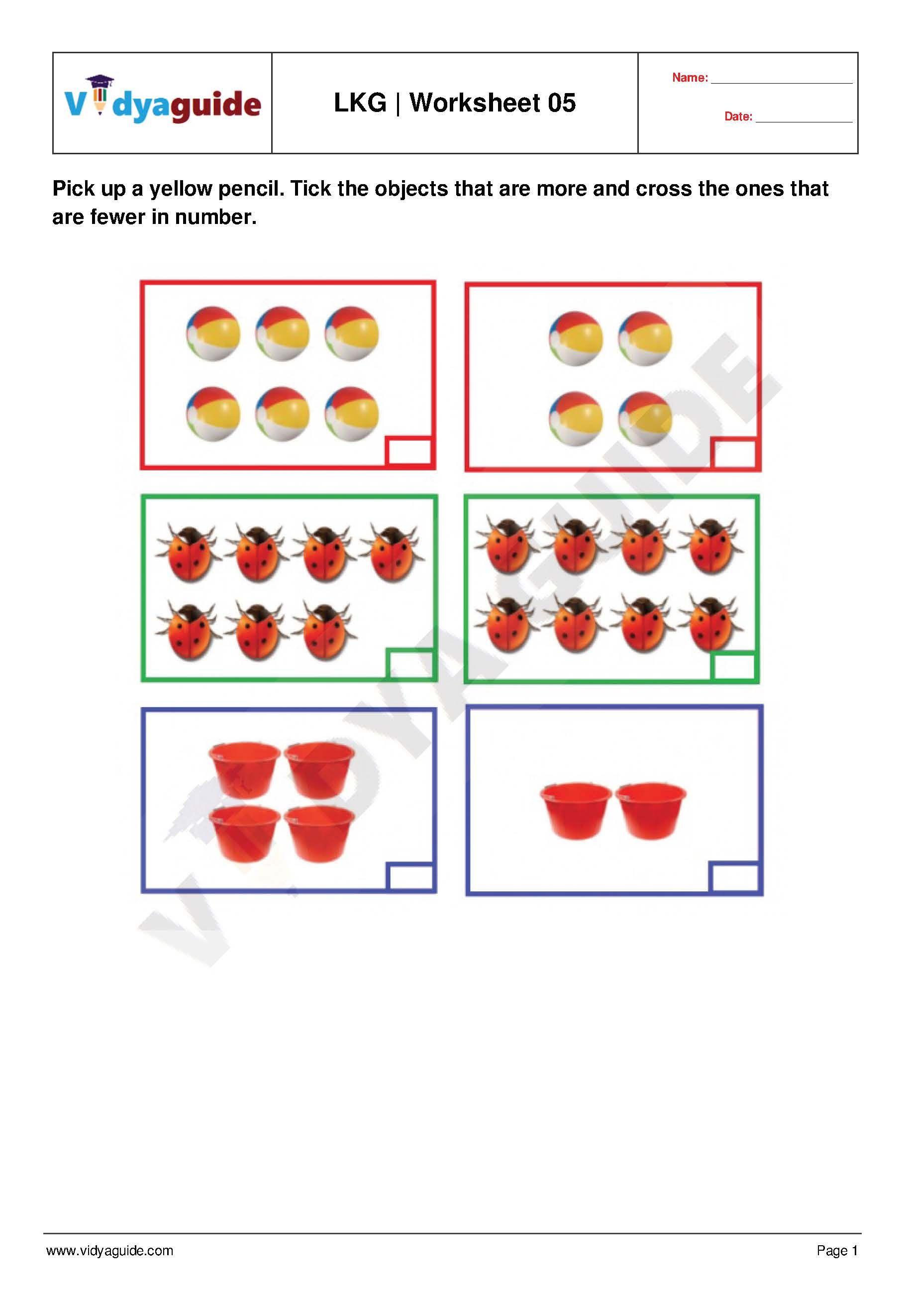 Lkg Worksheets Set 01