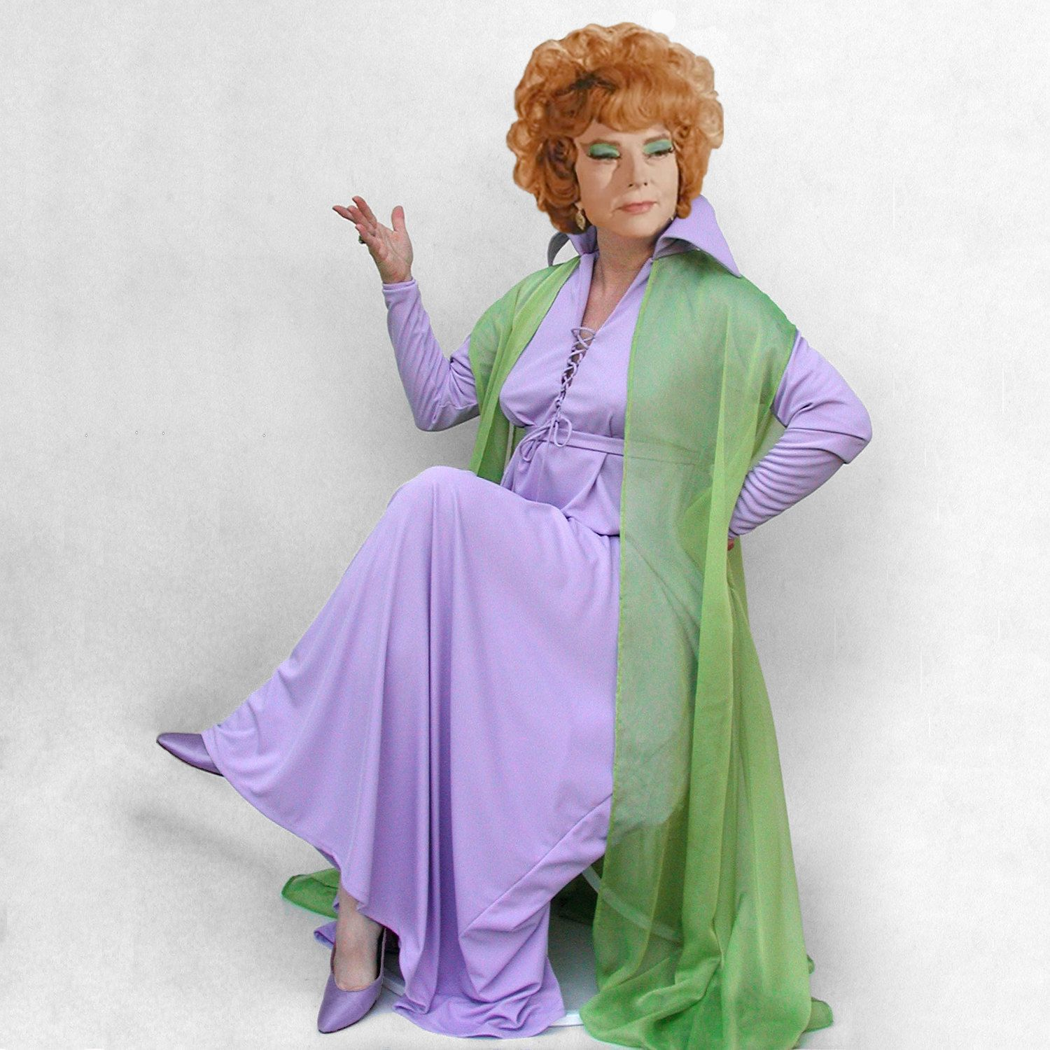 Endora costume, size XL, made to order, custom hemmed, Bewitched ...