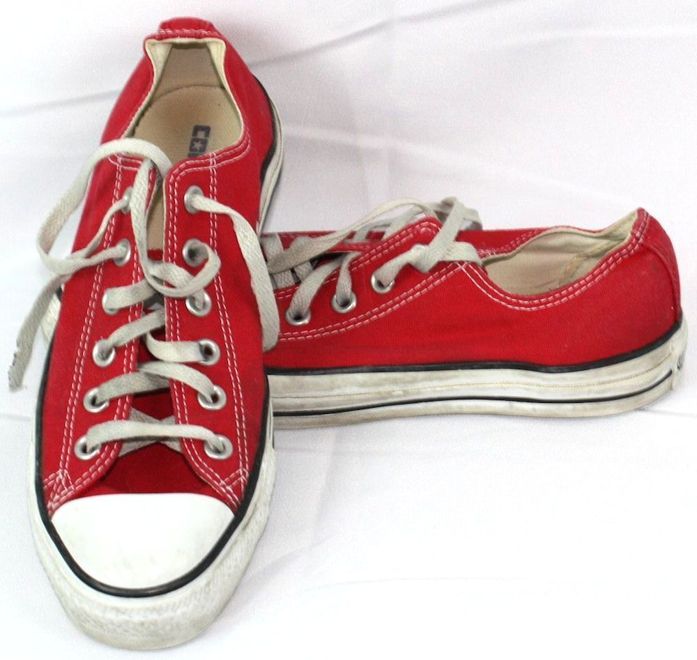 Converse red all star chuck taylor low top tennis shoes menus size