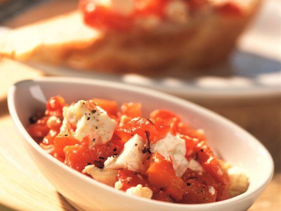 Rote Paprika mit Schafskäse ist ein Rezept mit frischen Zutaten aus der Kategorie Gemüse. Probieren Sie dieses und weitere Rezepte von EAT SMARTER!