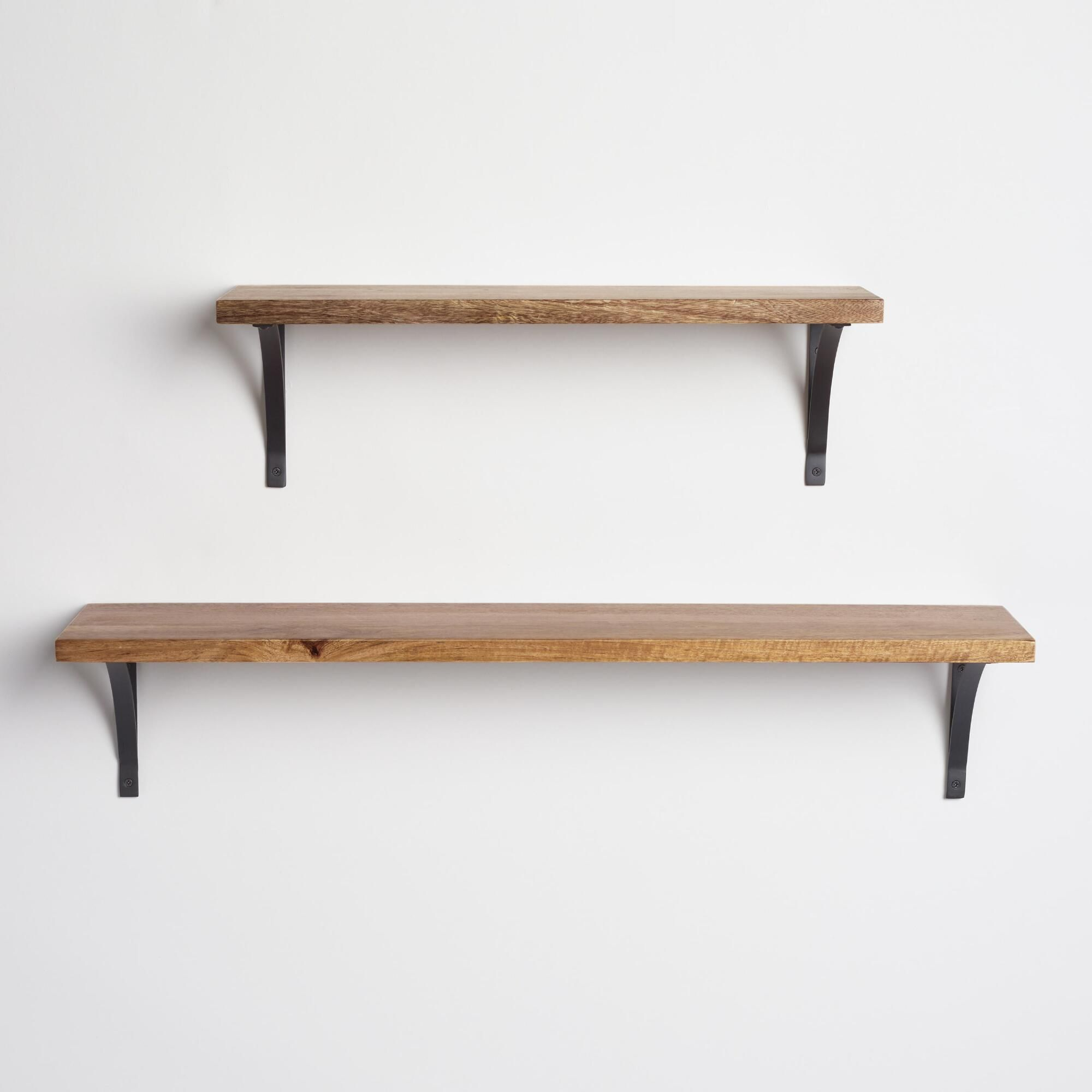 black metal mix u0026 match shelf brackets set of 2
