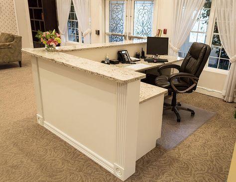 Custom Build Reception Desk Google Search Reception Desk Office Office Reception Area Reception Desk Area
