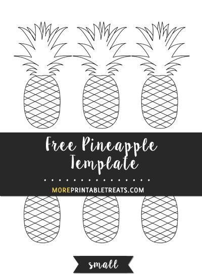 free pineapple template small size shapes and templates