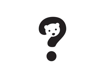 Bear + Question Mark Animal logo, Creative logo, Logo