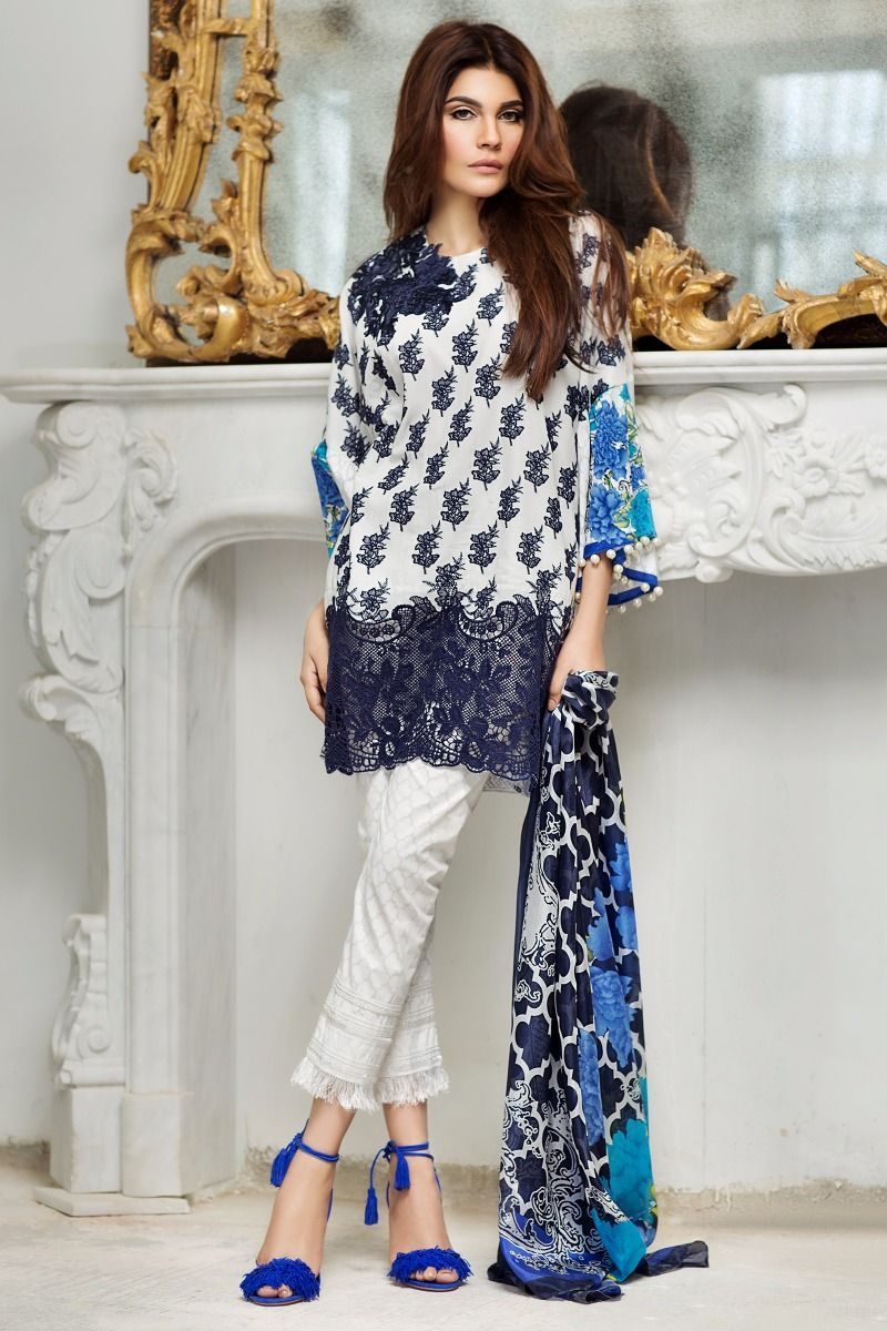 23c7f67855 Sana Safinaz Best Summer Lawn Dresses Latest Collection 2017-2018