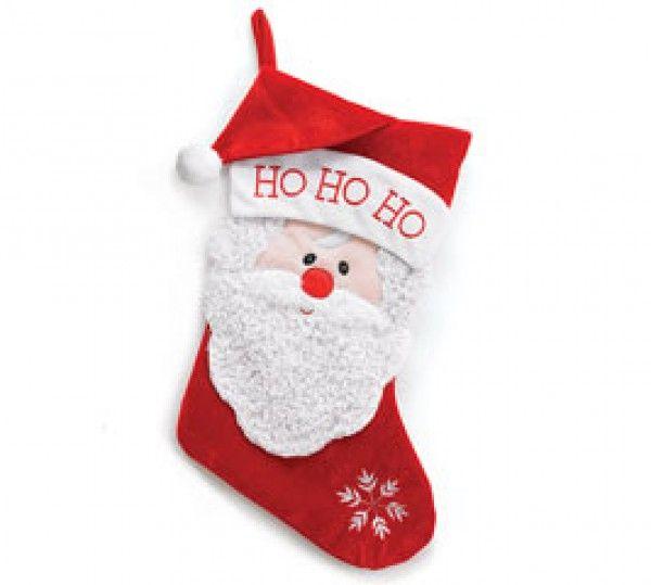 santa says ho ho ho christmas polyester stocking 16h x 7 12 - Santa Hohoho 2
