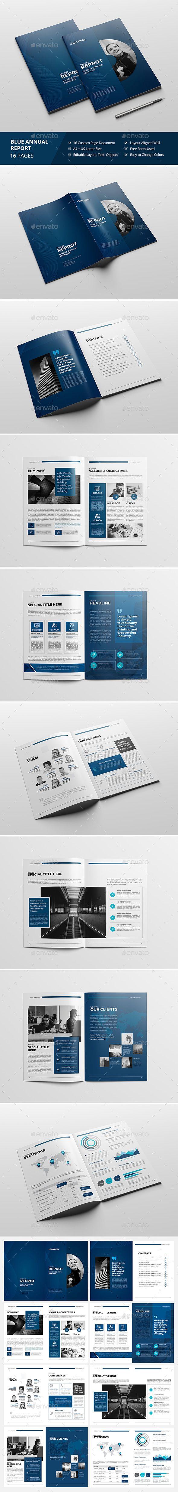 Haweya Blue Report/Brochure   Indesign templates, Brochures and ...