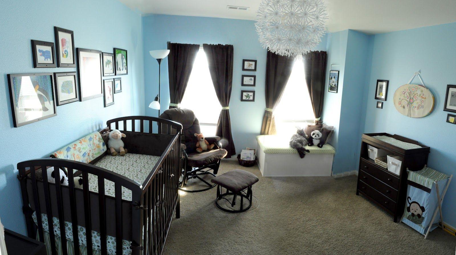 Olive Inspired Nursery Reveal Blue Nursery Boy Brown Nursery Blue Nursery
