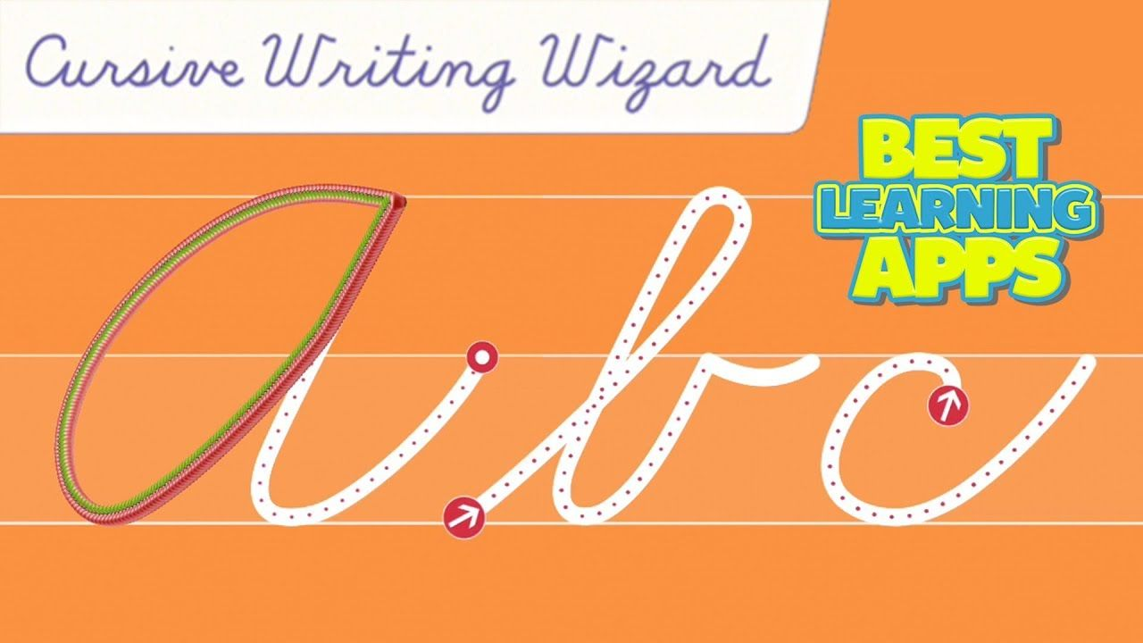 Cursive writing wizard a to z best letter school app for