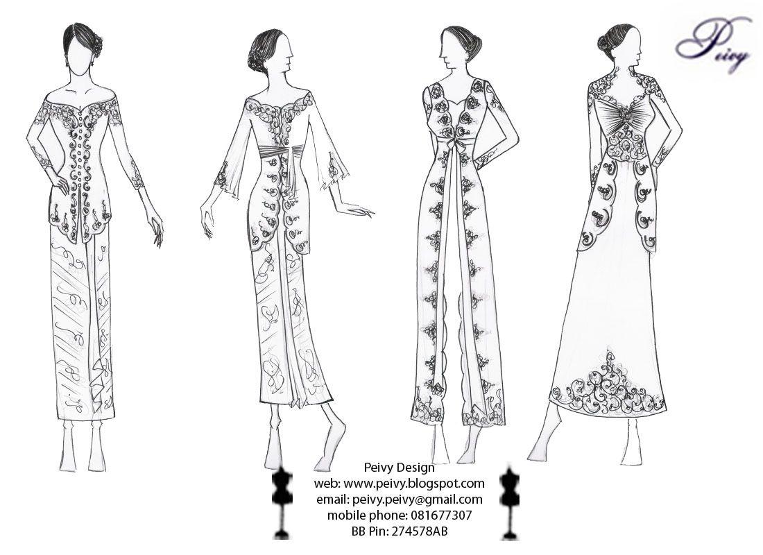Hasil Gambar Untuk Gambar Sketsa Desain Fashion Casual
