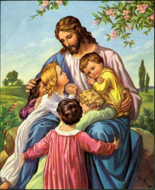 Suffer The Little Children To Come Unto Me Imagens De Jesus