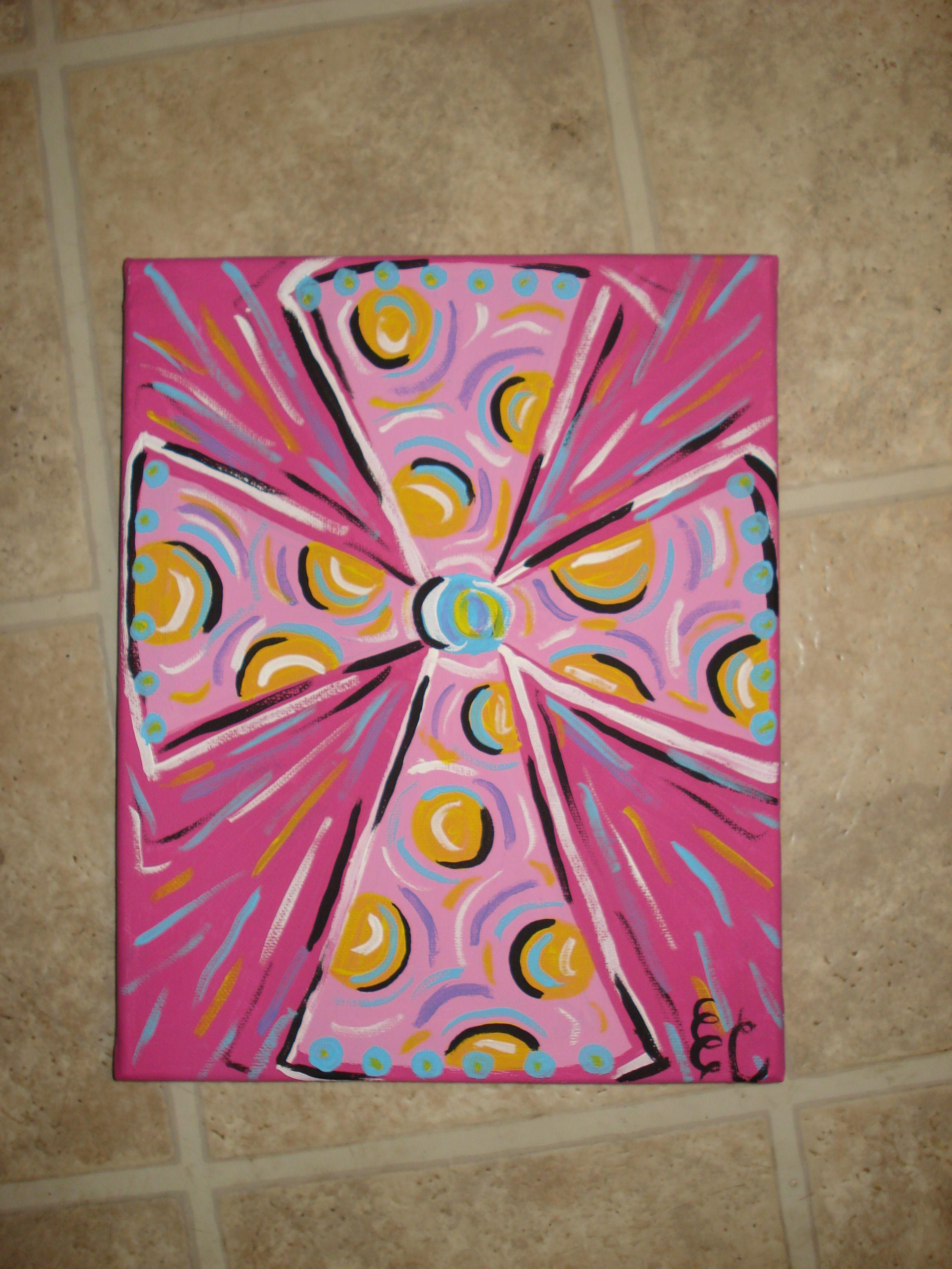 Cute little cross for gift diy cross paintings easy