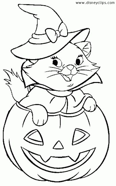 Marie Halloween Coloring Sheets Disney Coloring Pages