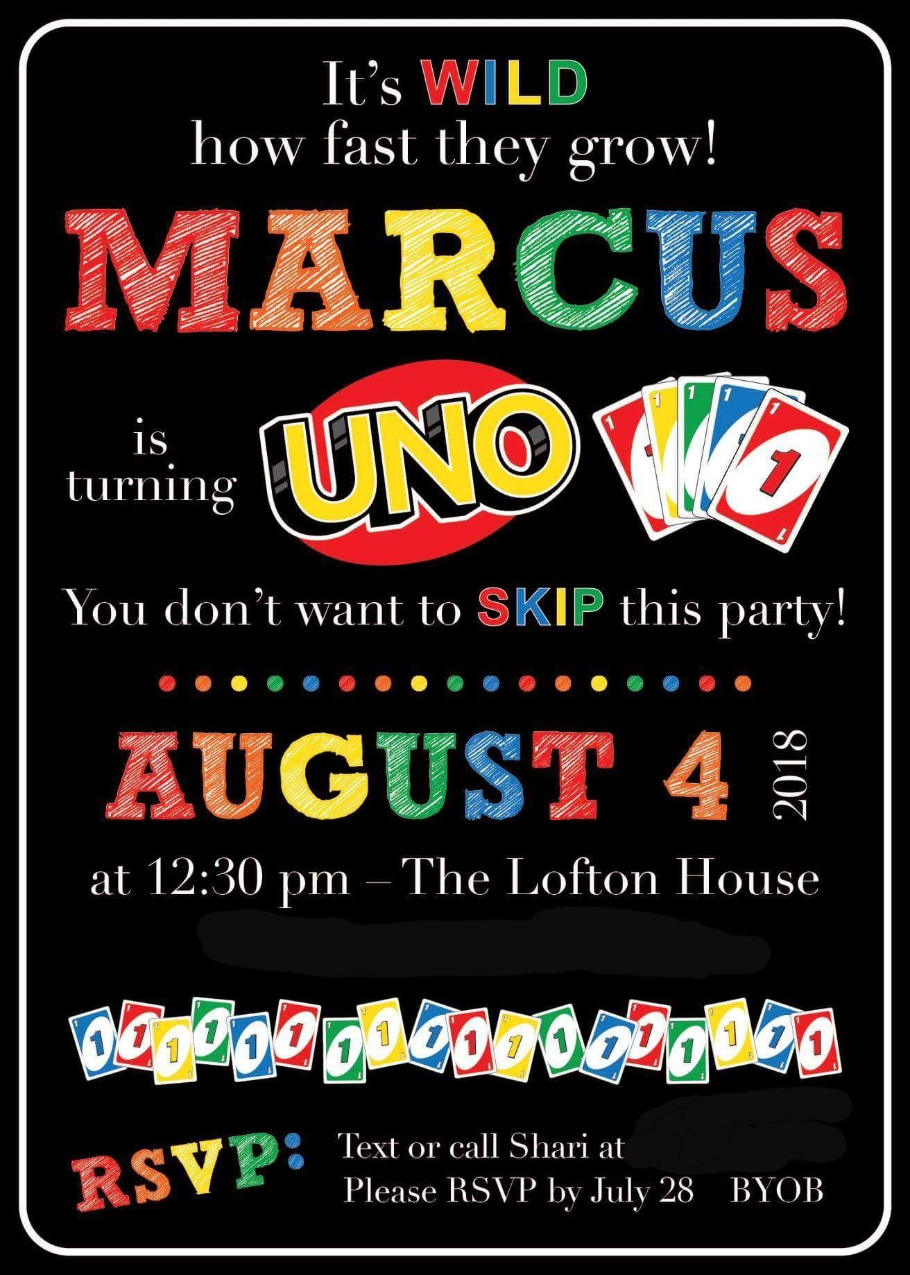 Uno Birthday Invitation In 2019 1st Birthday Party