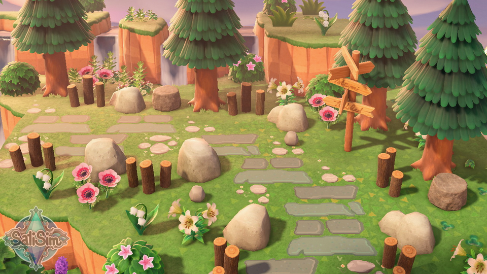 Pin on Animal Crossing gardens and outdoor spaces