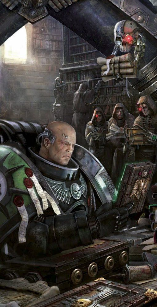Study Room 40000: Inquisitive Deathwatch Space Marines Have Been Drawn To