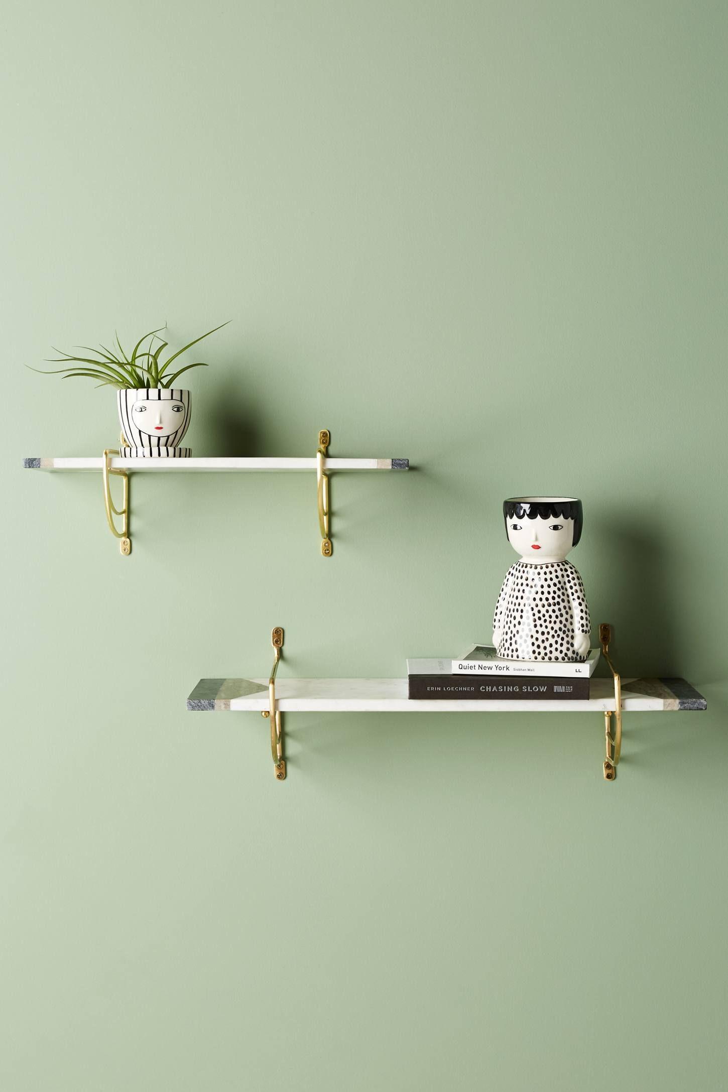Marble Geo Shelf Shelves, Minimalist room, Floating shelves