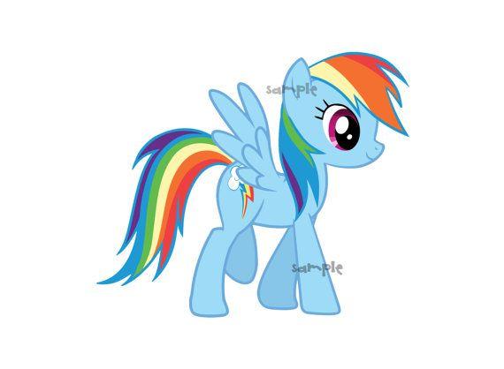 my little pony rainbow dash digital clip art png instant download rh pinterest com my little pony birthday clipart my little pony clip art coloring pages