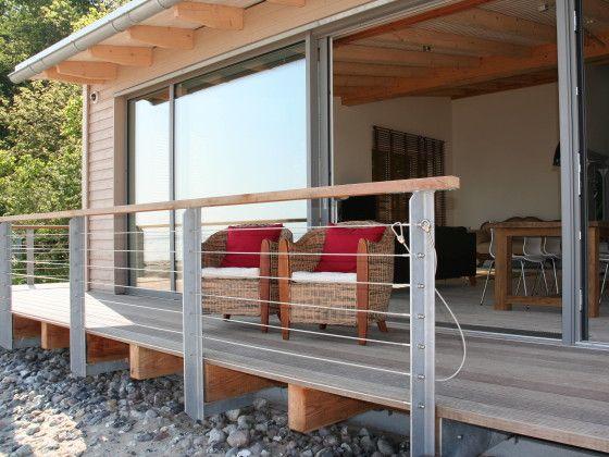 Veranda mit Front Strandhäuser, Ferienwohnung