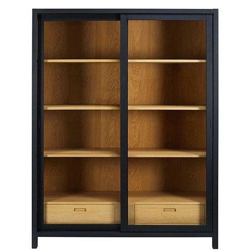 vitrine mit 2 schubladen schwarz display cabinets pinterest vitrine schubladen und mond. Black Bedroom Furniture Sets. Home Design Ideas